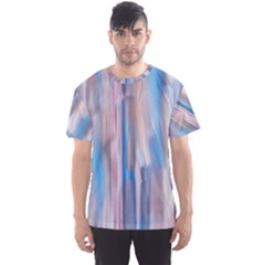 Vertical Abstract Contemporary Men s Sport Mesh Tee