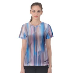 Vertical Abstract Contemporary Women s Sport Mesh Tee