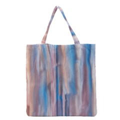 Vertical Abstract Contemporary Grocery Tote Bag