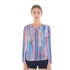 Vertical Abstract Contemporary Women s Long Sleeve Tee