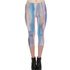 Vertical Abstract Contemporary Capri Leggings