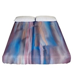 Vertical Abstract Contemporary Fitted Sheet (California King Size)