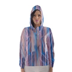 Vertical Abstract Contemporary Hooded Wind Breaker (Women)