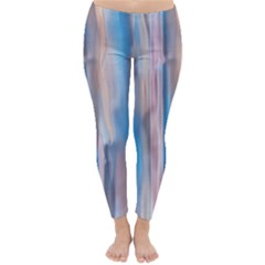 Vertical Abstract Contemporary Classic Winter Leggings