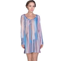 Vertical Abstract Contemporary Long Sleeve Nightdress