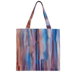 Vertical Abstract Contemporary Zipper Grocery Tote Bag