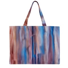 Vertical Abstract Contemporary Zipper Mini Tote Bag