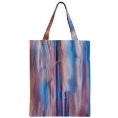 Vertical Abstract Contemporary Zipper Classic Tote Bag
