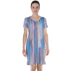 Vertical Abstract Contemporary Short Sleeve Nightdress