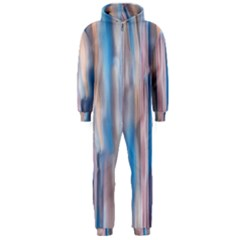 Vertical Abstract Contemporary Hooded Jumpsuit (Men)