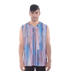 Vertical Abstract Contemporary Men s Basketball Tank Top
