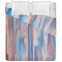 Vertical Abstract Contemporary Duvet Cover Double Side (California King Size)