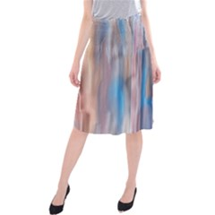 Vertical Abstract Contemporary Midi Beach Skirt