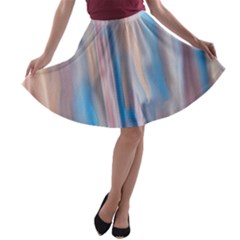 Vertical Abstract Contemporary A-line Skater Skirt