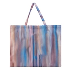 Vertical Abstract Contemporary Zipper Large Tote Bag