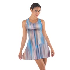 Vertical Abstract Contemporary Cotton Racerback Dress