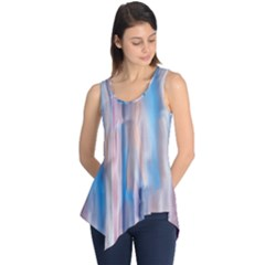 Vertical Abstract Contemporary Sleeveless Tunic