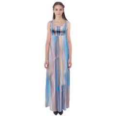 Vertical Abstract Contemporary Empire Waist Maxi Dress