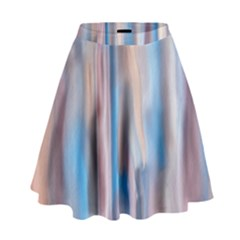 Vertical Abstract Contemporary High Waist Skirt