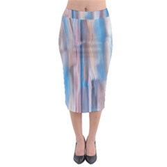 Vertical Abstract Contemporary Midi Pencil Skirt