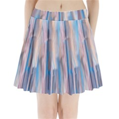 Vertical Abstract Contemporary Pleated Mini Skirt