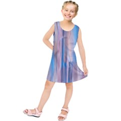 Vertical Abstract Contemporary Kids  Tunic Dress
