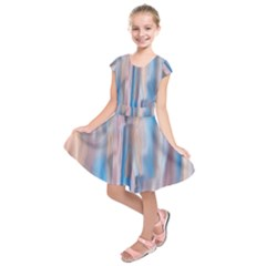 Vertical Abstract Contemporary Kids  Short Sleeve Dress