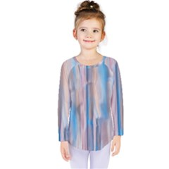 Vertical Abstract Contemporary Kids  Long Sleeve Tee