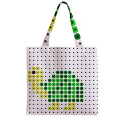 Colored Turtle Zipper Grocery Tote Bag