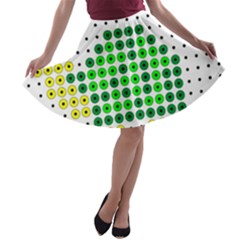 Colored Turtle A-line Skater Skirt