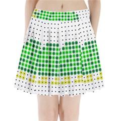 Colored Turtle Pleated Mini Skirt