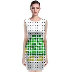 Colored Turtle Sleeveless Velvet Midi Dress