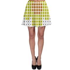 Colored Flowers Skater Skirt