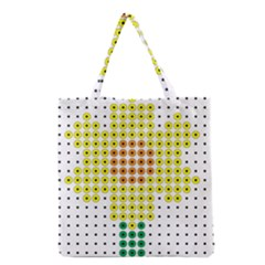 Colored Flowers Grocery Tote Bag