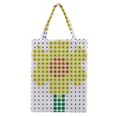 Colored Flowers Classic Tote Bag