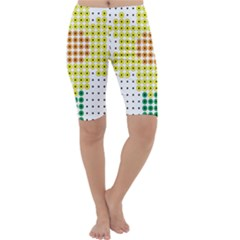 Colored Flowers Cropped Leggings