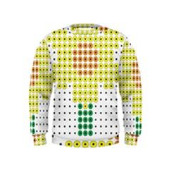 Colored Flowers Kids  Sweatshirt