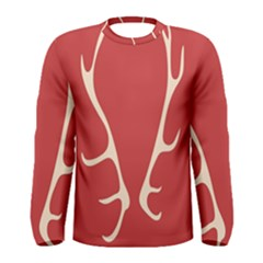 Deer Antlers Men s Long Sleeve Tee