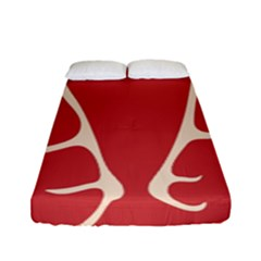 Deer Antlers Fitted Sheet (full/ Double Size)