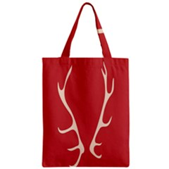 Deer Antlers Zipper Classic Tote Bag