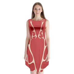 Deer Antlers Sleeveless Chiffon Dress