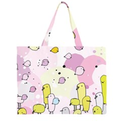 Cut Bird Large Tote Bag