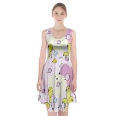 Cut Bird Racerback Midi Dress