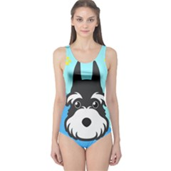 Face Dog One Piece Swimsuit