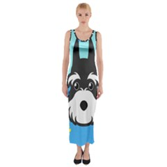 Face Dog Fitted Maxi Dress