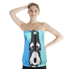 Face Dog Strapless Top