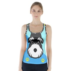 Face Dog Racer Back Sports Top