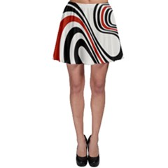 Curving, White Background Skater Skirt