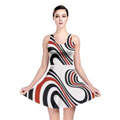 Curving, White Background Reversible Skater Dress