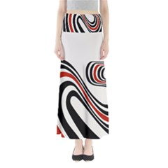 Curving, White Background Maxi Skirts